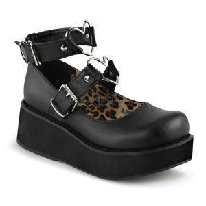 Valentines Gothic Heart  Platform Mary Jane Shoes